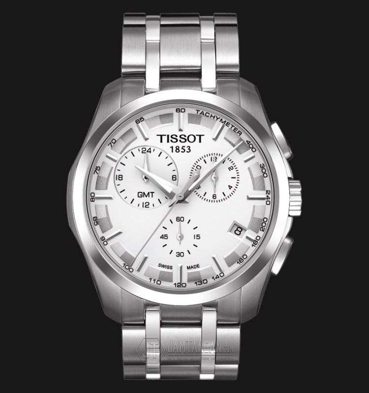 TISSOT Couturier GMT Chronograph Silver Dial Stainless Steel T035.439.11.031.00 Machtwatch