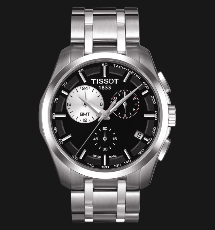 TISSOT Couturier Quartz GMT Chronograph T035.439.11.051.00 Machtwatch