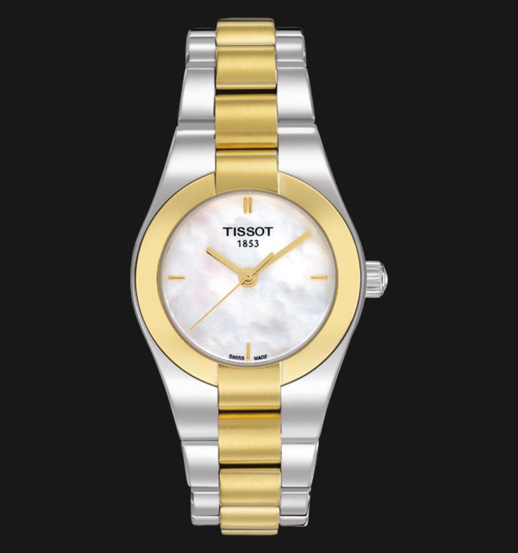 Tissot T043.010.22.111.00 Glam Sport Mother of Pearl Dial Dual Tone Stainless Steel Strap Machtwatch