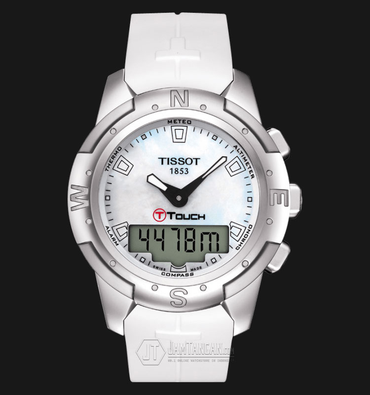 TISSOT T-Touch II White Mother of Pearl Titanium T047.220.47.111.00 Machtwatch