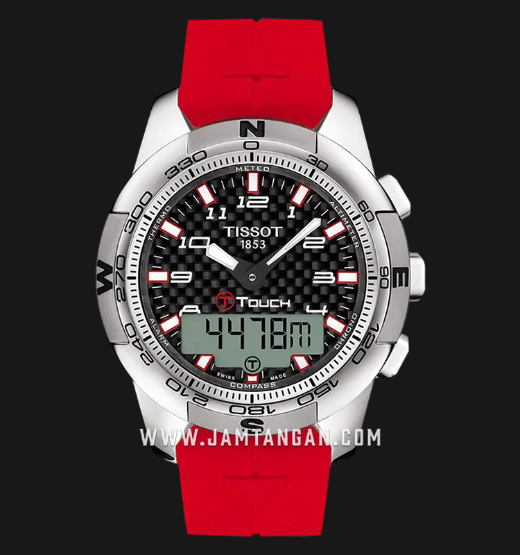 Tissot T047.420.47.207.02 T-Touch II Asian Games Incheon 2014 Men Red Rubber Strap Machtwatch