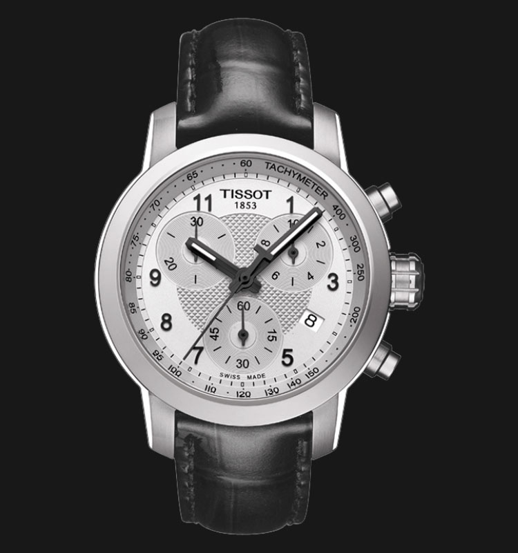TISSOT PRC 200 Quartz Chronograph Lady Black Leather 200M T055.217.16.032.02 Machtwatch
