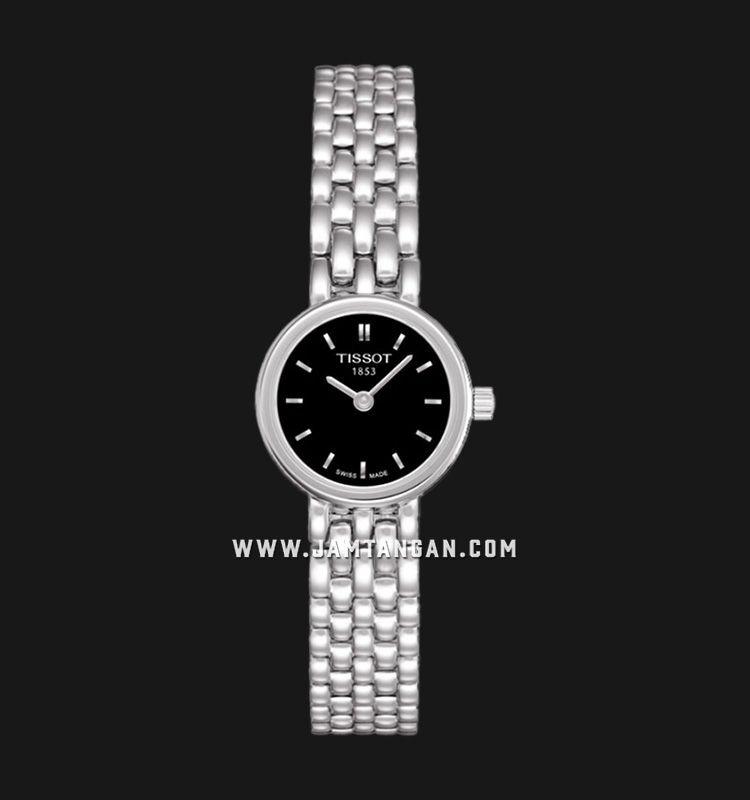 Tissot Lovely T058.009.11.051.00 Black Dial Stainless Steel Strap Machtwatch