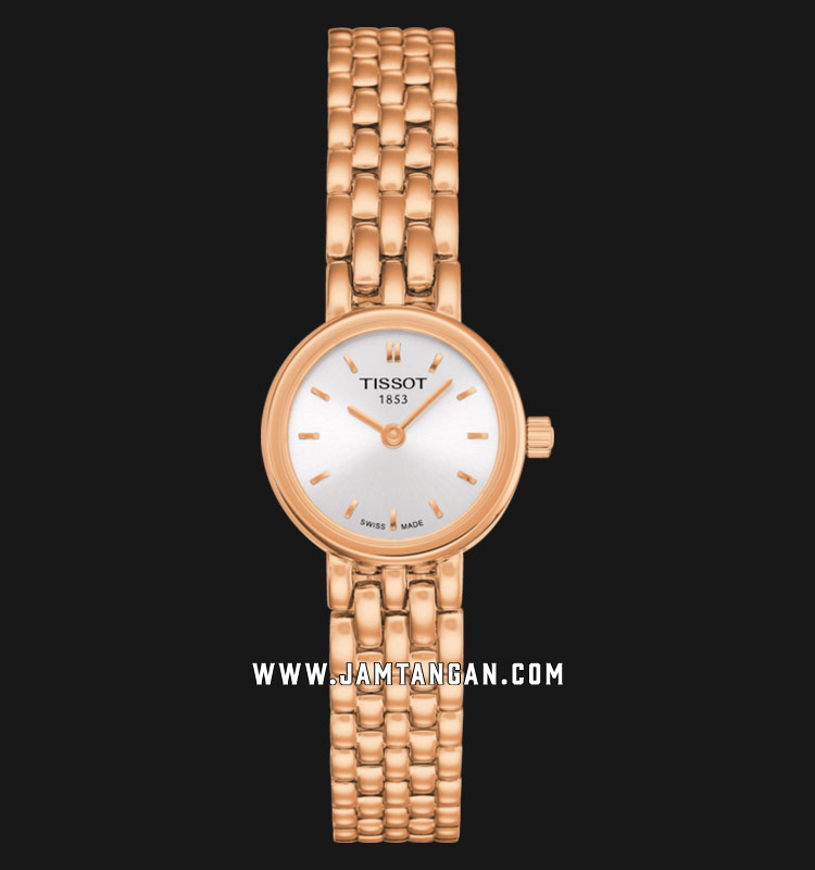 TISSOT Lovely T058.009.33.031.01 Silver Dial Rose Gold Stainless Steel Strap Machtwatch