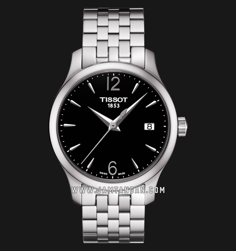 Tissot T063.210.11.057.00 T-Classic Tradition Ladies Black Dial Stainless Steel Strap Machtwatch