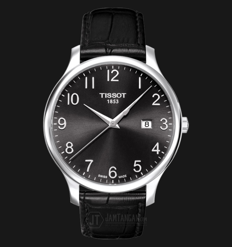 Tissot Tradition Gent Black Dial Leather Strap T063.610.16.052.00 Machtwatch
