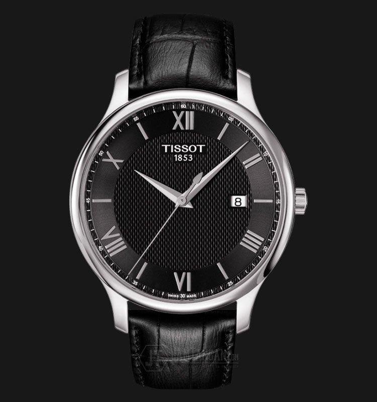 Tissot Tradition Gent Black Dial Black Leather T063.610.16.058.00 Machtwatch