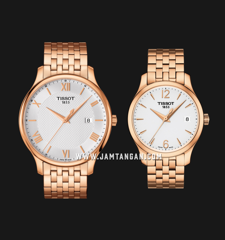 TISSOT T063.610.33.038.00_T063.210.33.037.00 T-Classic Tradition Couple Rose Gold Stainless Steel Machtwatch