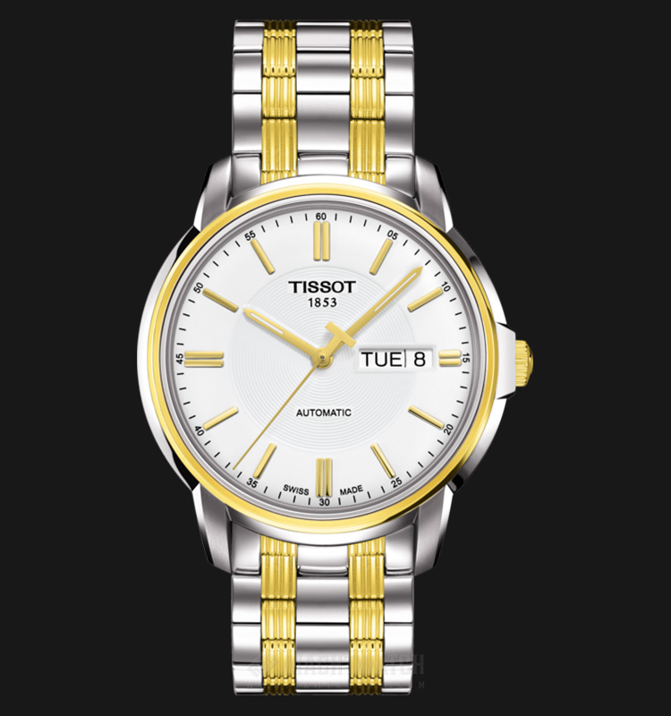 TISSOT Automatic III T065.430.22.031.00 Silver Dial Dual Tone Stainless Steel Machtwatch
