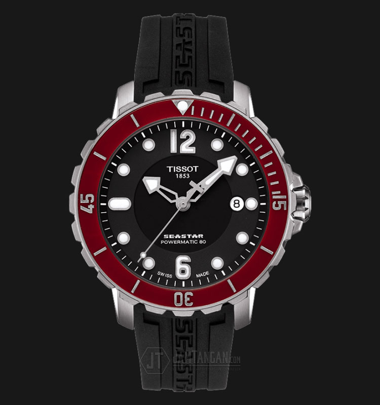 Tissot Seastar 1000 Automatic Black Dial Black Rubber Strap T066.407.17.057.03 Machtwatch