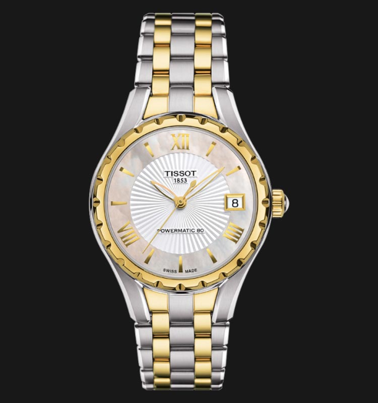 Tissot T-Lady T072.207.22.118.00 Powermatic 80 Mother Of Pearl Dial Dual Tone Stainless Steel Strap Machtwatch