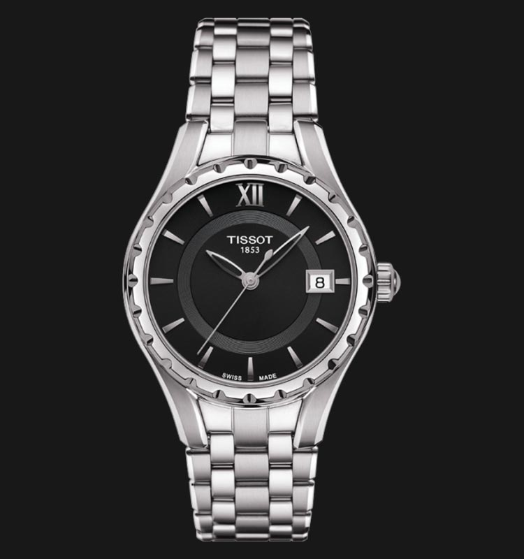 TISSOT Lady Quartz T072.210.11.058.00 Black Dial Stainless Steel Machtwatch