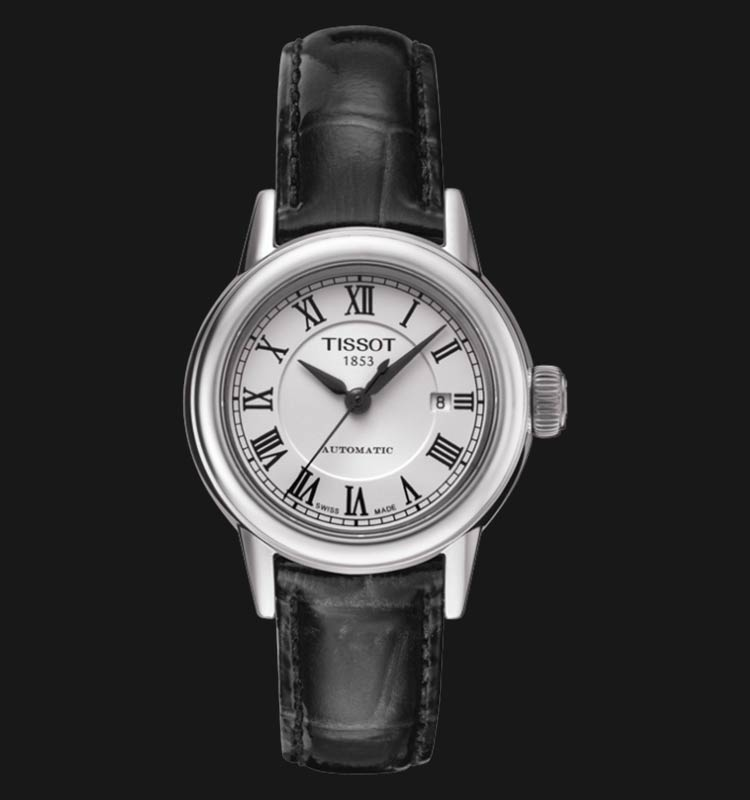 TISSOT Carson T085.207.16.013.00 Automatic Lady White Dial Black Leather Strap Machtwatch