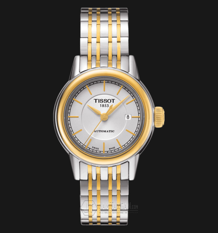 TISSOT Carson Automatic Two Tune Dial Stainless Steel Ladies T085.207.22.011.00 Machtwatch