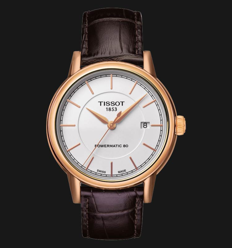 TISSOT Carson Automatic Gent T085.407.36.011.00 White Dial Brown Leather Strap Machtwatch