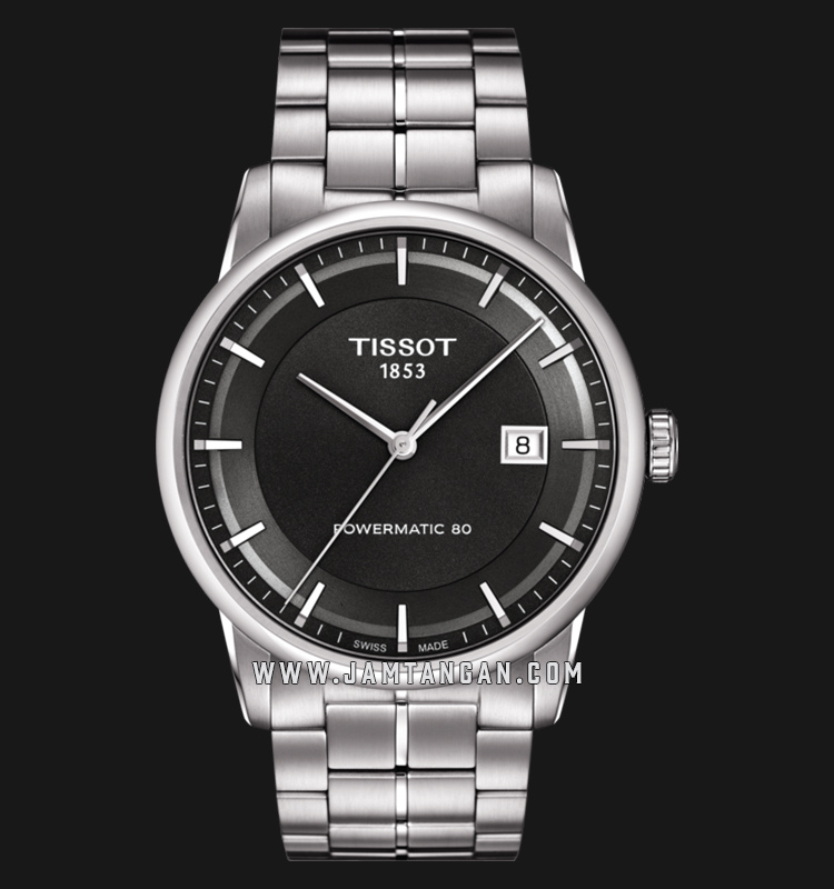 Tissot T086.407.11.061.00 Powermatic 80 Automatic Men Black Dial Stainless Steel Strap Machtwatch