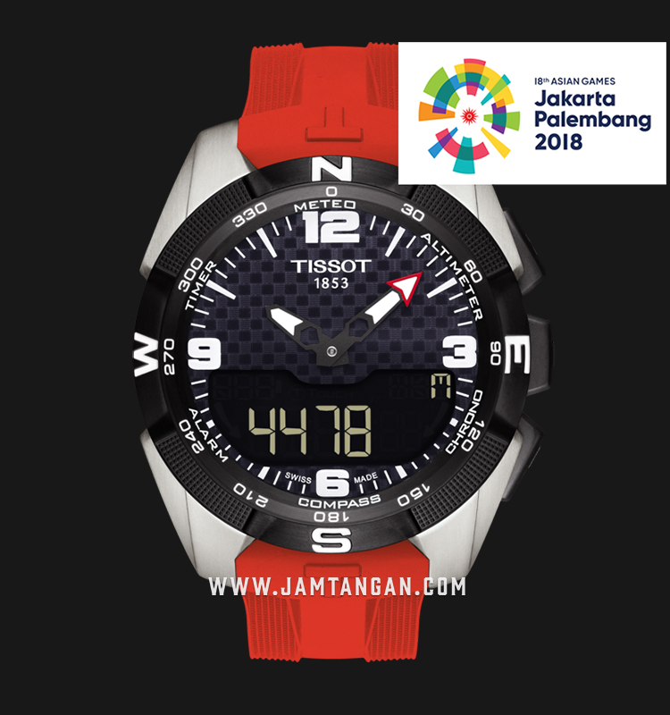 Tissot T091.420.47.057.03 T-Touch Expert XL Asian Games 2018 Man Red Silicone Strap Machtwatch