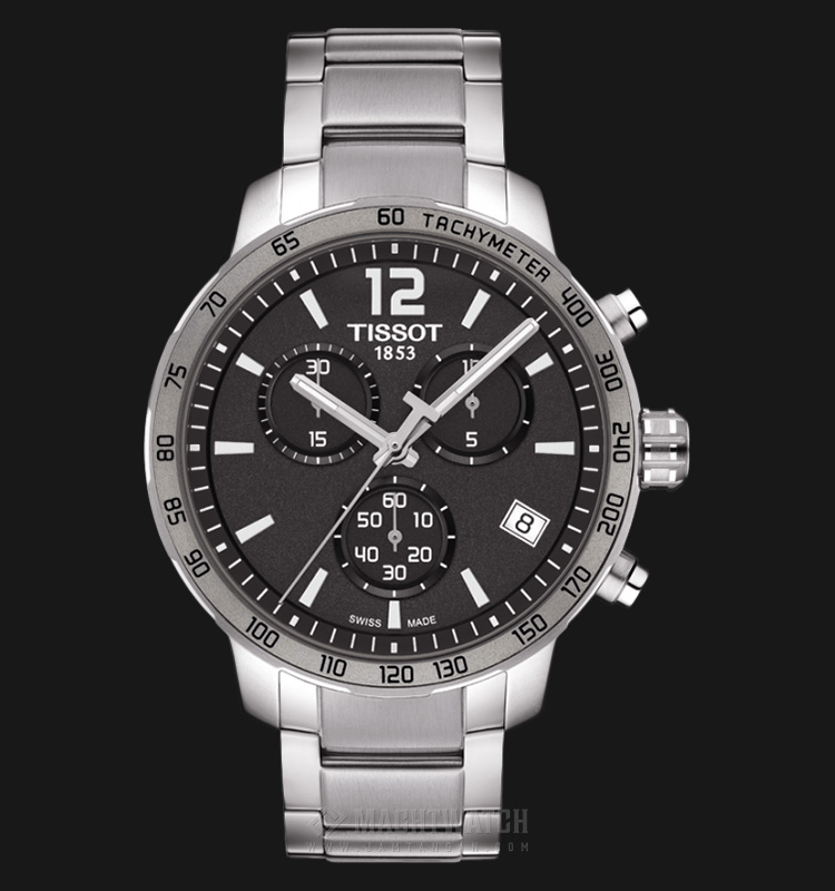 TISSOT Quickster Chronograph Grey Dial Stainless Steel T095.417.11.067.00 Machtwatch