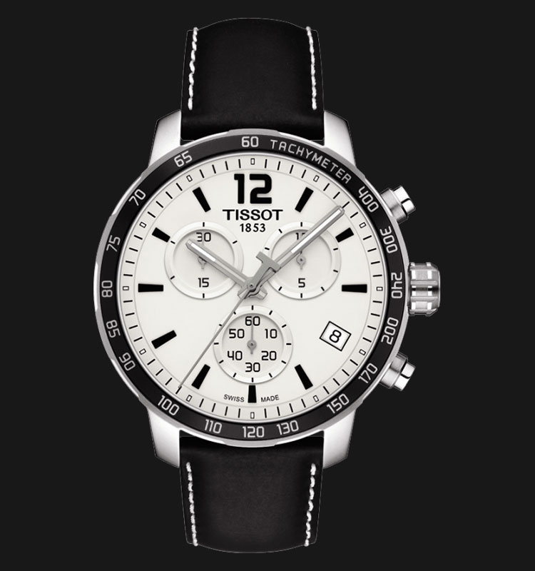 TISSOT Quickster Chronograph Black Leather T095.417.16.037.00 Machtwatch