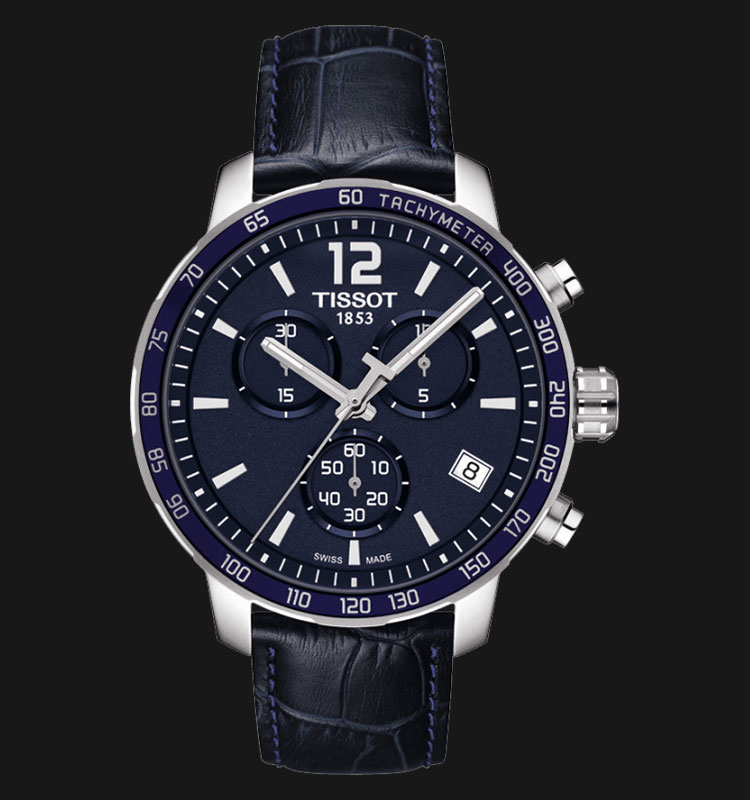 TISSOT Quickster Chronograph Blue Leather T095.417.16.047.00 Machtwatch