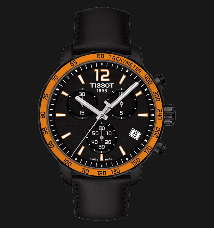 TISSOT Quickster Chronograph Black Leather T095.417.36.057.01 Machtwatch