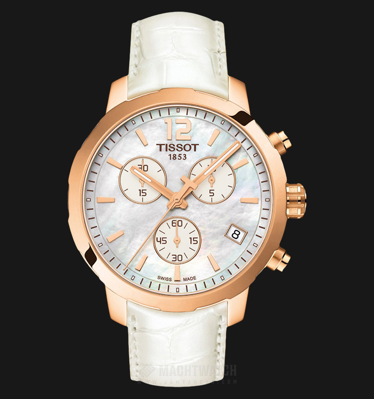 Tissot T-Sport Quickster Chronograph Mother of Pearl Dial T095.417.36.117.00 Machtwatch