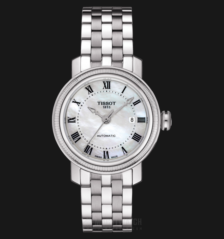 TISSOT Bridgeport Automatic T097.007.11.113.00 White Mother of Pearl Stainless Steel Machtwatch