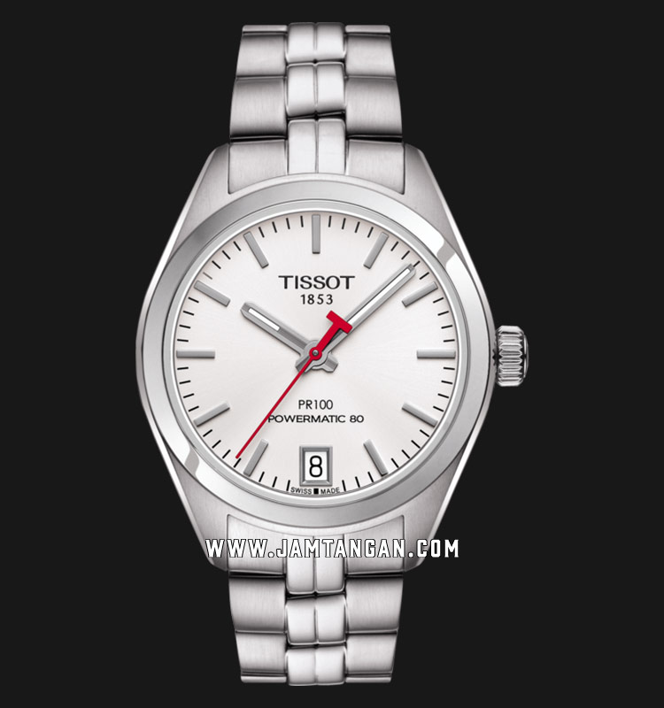 Tissot T101.207.11.011.00 T-Classic PR 100 Lady Asian Games 2018 Ladies White Dial Stainless Steel Machtwatch