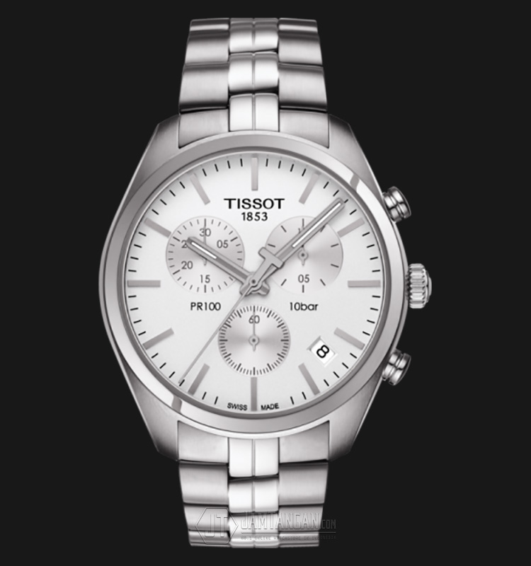 TISSOT PR 100 Chronograph Gent White Dial Stainless Steel T101.417.11.031.00 Machtwatch