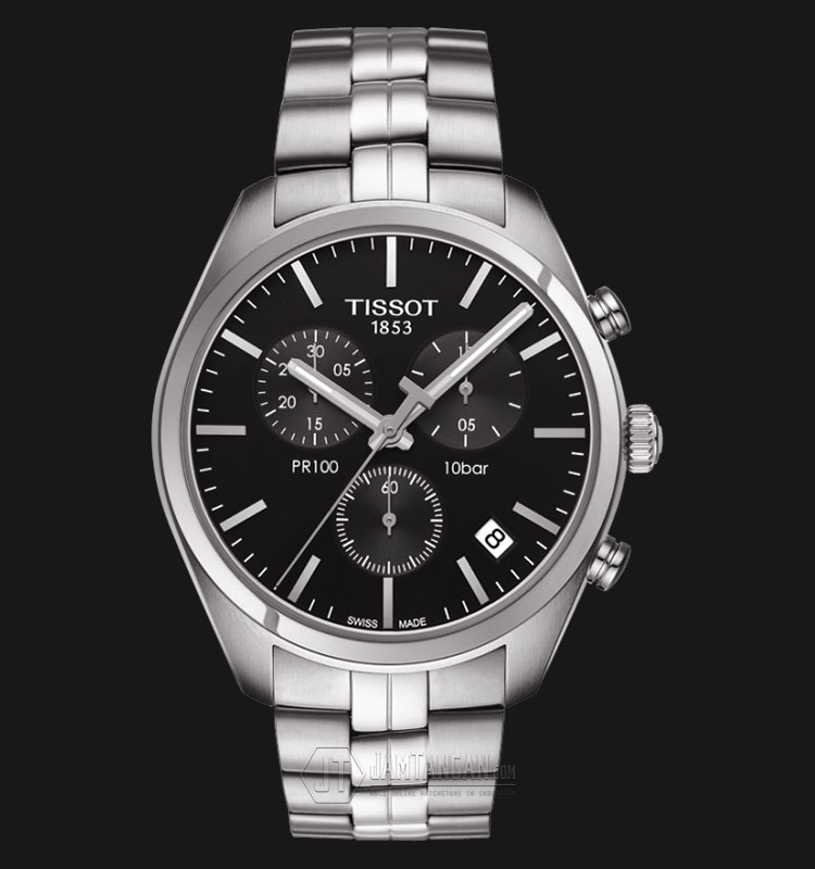 Tissot PR 100 Chronograph Gent Black Dial Stainless Steel T101.417.11.051.00 Machtwatch