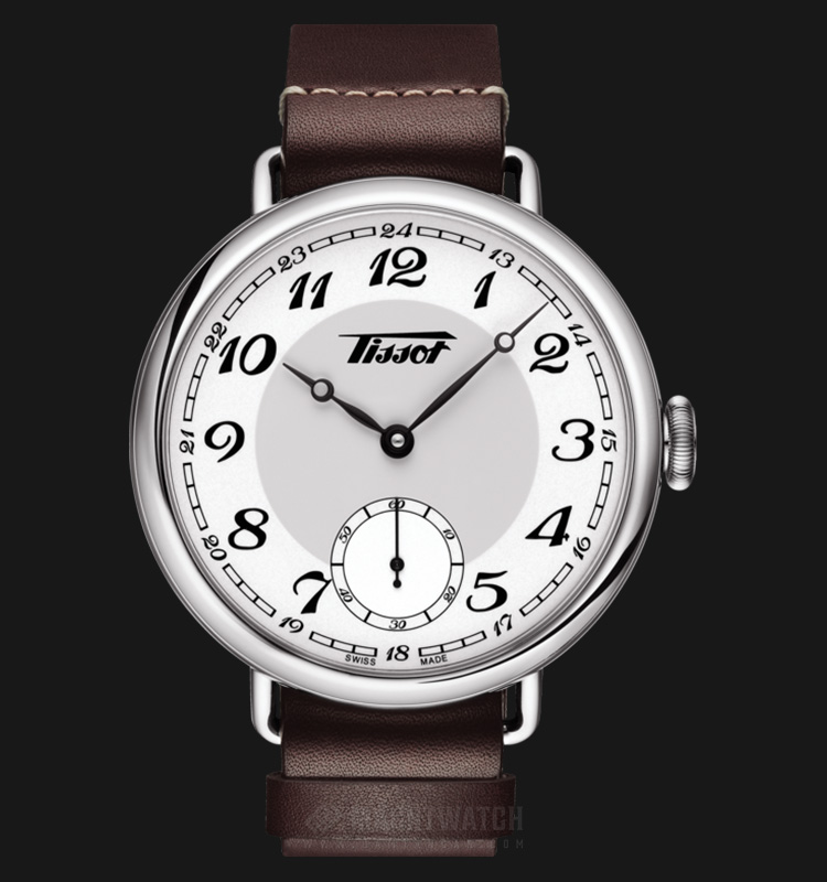 TISSOT Heritage 1936 Mechanical T104.405.16.012.00 White Dial Brown Leather Strap Machtwatch