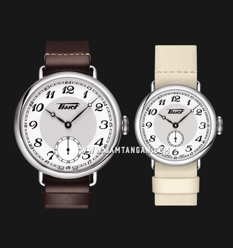 TISSOT T104.405.16.012.00_T104.228.16.012.00 Heritage 1936 Automatic Mechanical Couple Leather Strap Machtwatch