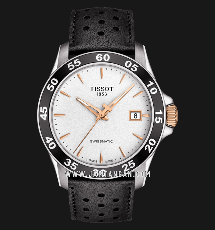 Tissot T106.407.26.031.00 V8 Swissmatic Men Silver Dial Black Leather Strap Machtwatch