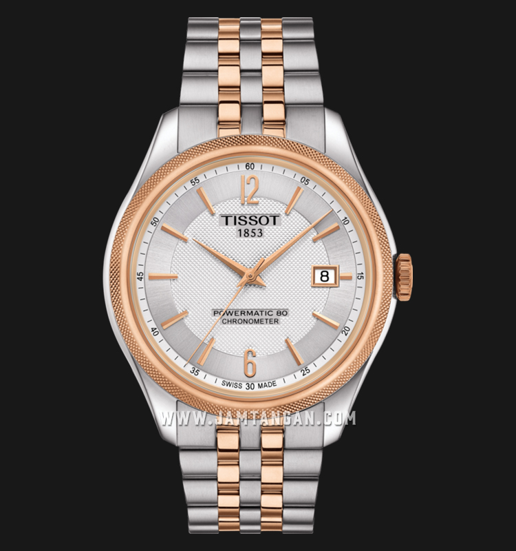 TISSOT T108.408.22.037.01 Ballade Powermatic 80 Cosc Men Silver Dial Dual Tone Stainless Steel Machtwatch