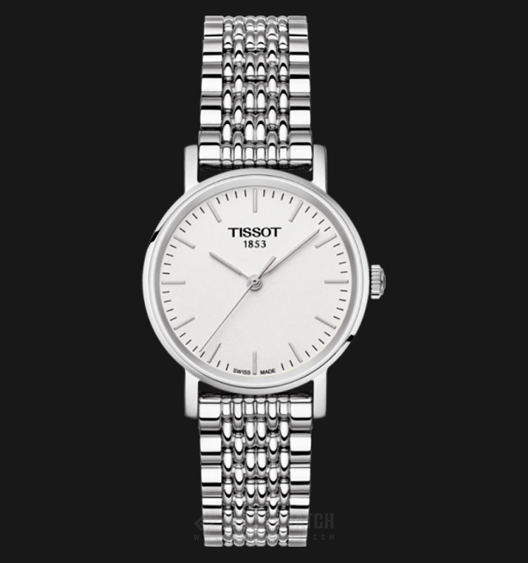 Tissot T-Classic Everytime Small Silver Dial Stainless Steel T109.210.11.031.00 Machtwatch