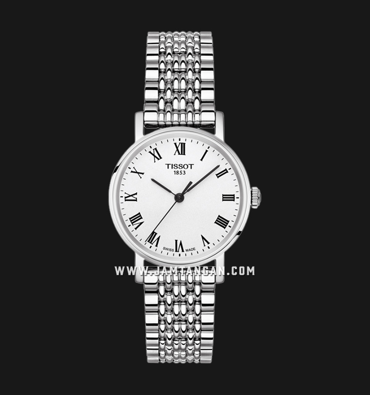 Tissot T109.210.11.033.00 Everytime Small Ladies Silver Dial Stainless Steel Strap Machtwatch