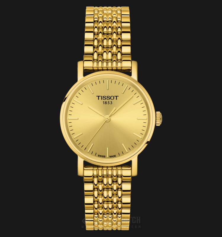 TISSOT Everytime Small T109.210.33.021.00 Gold Dial Gold Stainless Steel Machtwatch