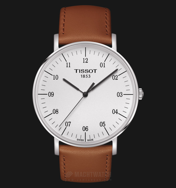 Tissot Everytime Large T109.610.16.037.00 White Dial Biege Leather Strap Machtwatch