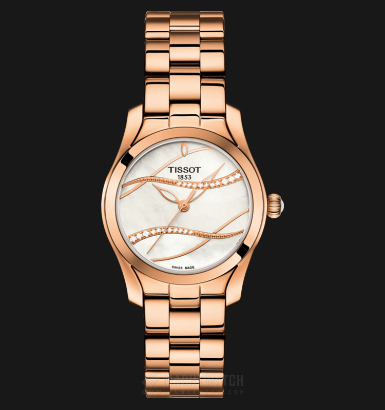 TISSOT T-Wave T112.210.33.111.00 White Mother of Pearl Dial Rose Gold Stainless Steel Machtwatch