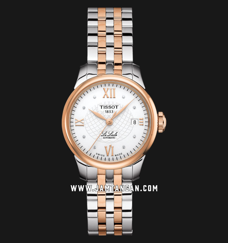 Tissot T41.2.183.16 Le Locle Automatic Ladies Silver Dial Dual Tone Stainless Steel Strap Machtwatch
