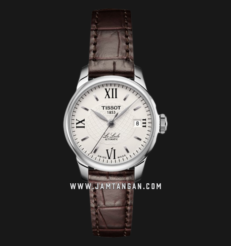 Tissot T41.1.113.77 Le Locle Automatic Ladies Silver Dial Brown Leather Strap Machtwatch