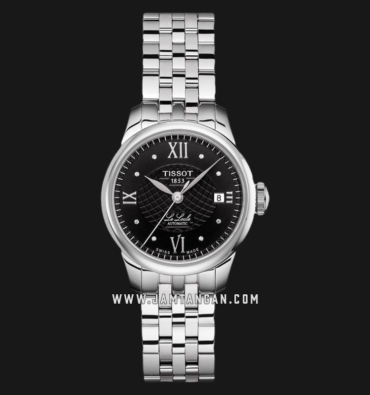 Tissot T41.1.183.56 Le Locle Automatic Ladies Black Dial Stainless Steel Strap Machtwatch