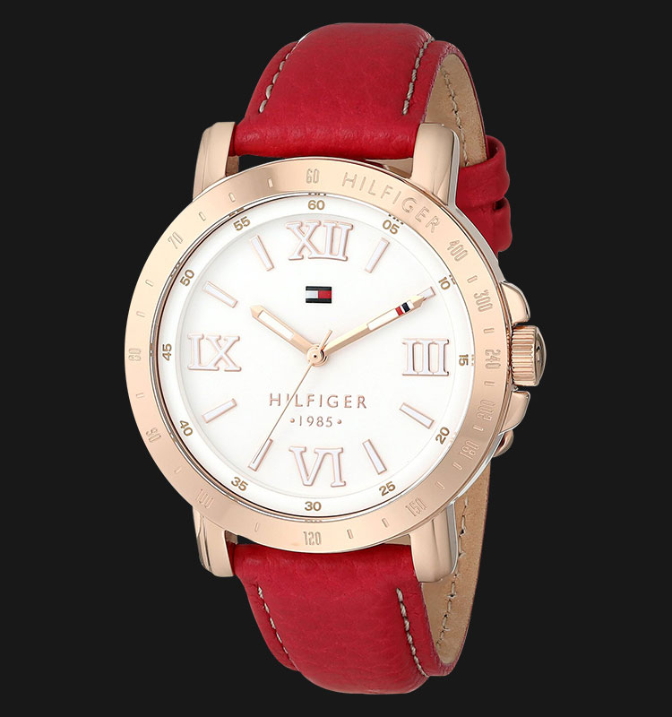 Tommy Hilfiger 1781439 Liv Raspberry Leather Women Machtwatch