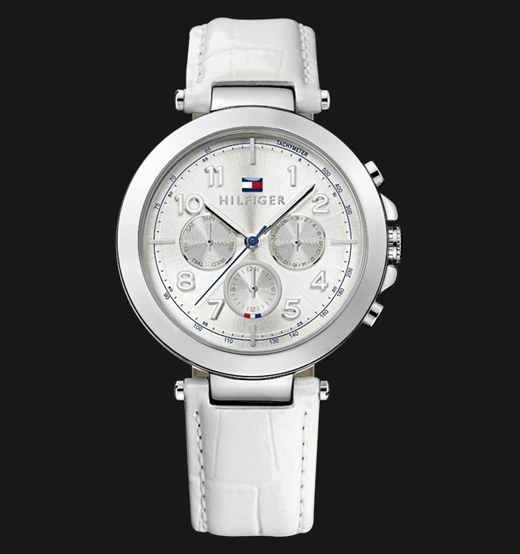 Tommy Hilfiger 1781448 Multi-Function White Leather Women Machtwatch