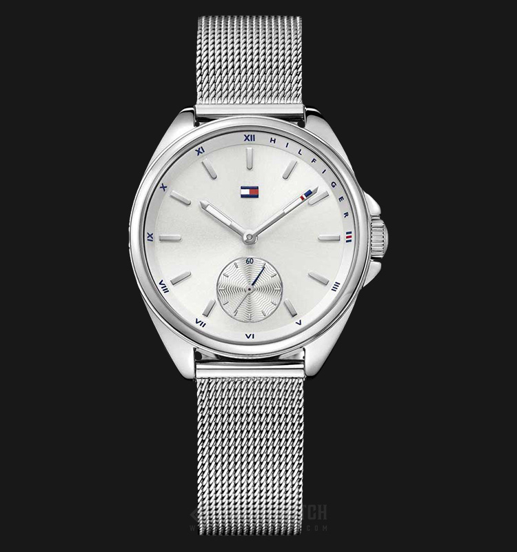 Tommy Hilfiger 1781758 Ladies Silver Dial Stainless Steel Machtwatch