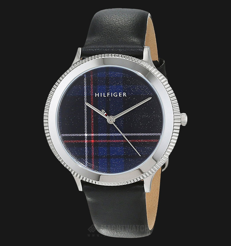 Tommy Hilfiger 1781857 Ladies Multi Color Dial Black Leather Strap Machtwatch