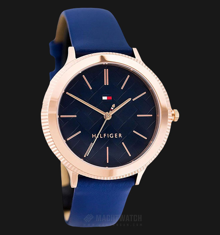 Tommy Hilfiger 1781860 Candice Ladies Blue Multidimensional Dial Blue Leather Strap Machtwatch