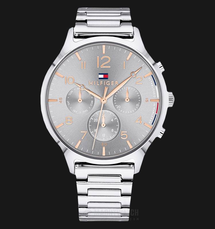 Tommy Hilfiger 1781871 Emmy Multifunction Ladies Grey Dial Stainless Steel Machtwatch