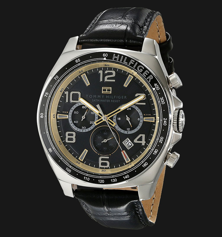 Tommy Hilfiger 1790936 Sport Luxury Chronograph and Black Leather Strap Machtwatch