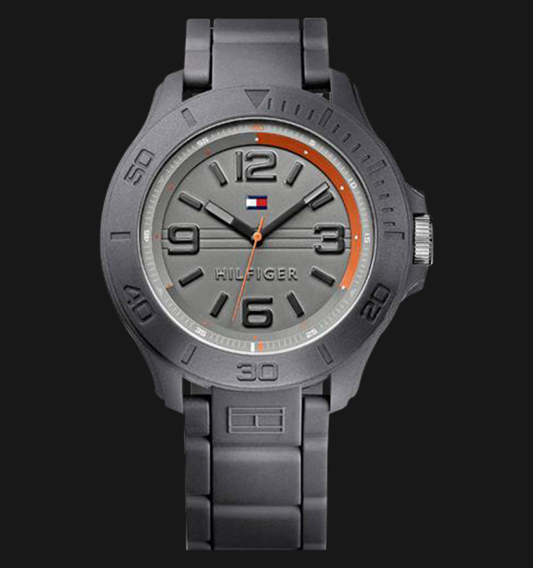 Tommy Hilfiger 1790956 Casual Gray Dial Rubber Strap Machtwatch